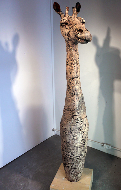 Giraffe Vessel - Small Sculpture