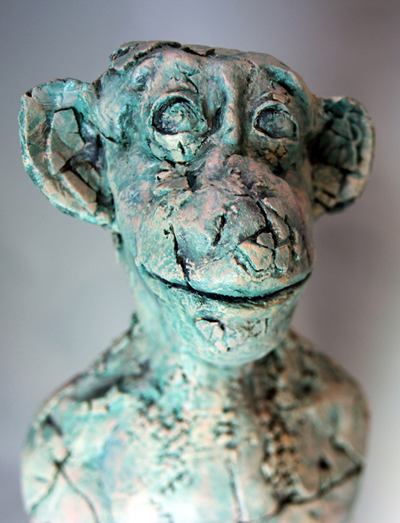 Monkey Vessel - Small Sculpture