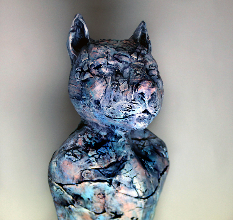 Cat Vessel - Small Sculpture